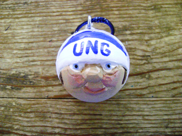 University North Georgia Golf Ball Christmas Ornament