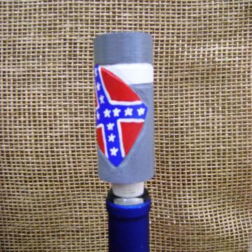 handcarved civil war soldier wine stopper
