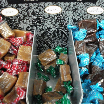 bequet caramel soft sea salt chocolate cranberry corners gift shop dahlonega ga