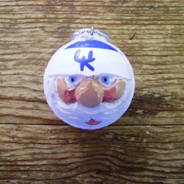 Kentucky Wildcats Golf Ball Christmas Ornament
