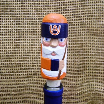 Handcarved Wine Bottle Stopper or Cork | Auburn Tigers