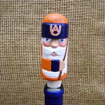 Handcarved Wine Bottle Stopper or Cork | Auburn Tigers