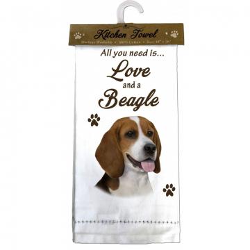 Beagle Dog Kitchen Tea Towel
