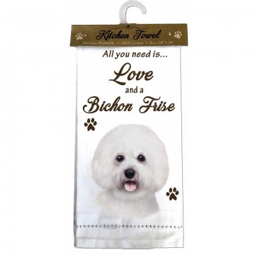 Bichon Frise Dog Kitchen Tea Towel