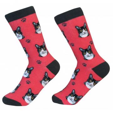 Black + White Cat Socks