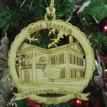 Dahlonega Gold Museum Wooden Souvenier Ornament