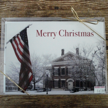 Dahlonega Courthouse and Flag | Christmas Card Set of 12