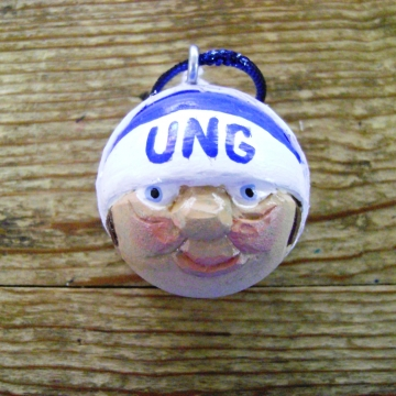 Handcarved Golf Ball Ornament | University of North Georgia Nighthawks Fan